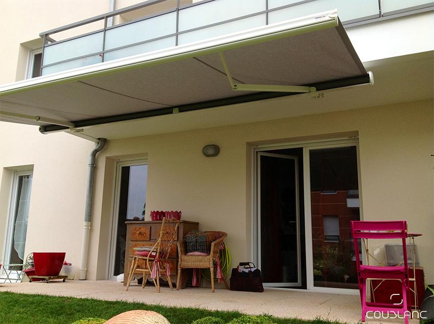 Pergola toile montrange r tractable repliable sur mesure coublanc - Toile pour terras exterieur ...